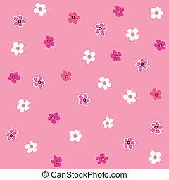 seamless, różowy kwiat, pled, próbka