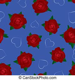 seamless, rózsa