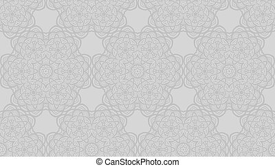 Seamless radial pattern
