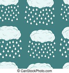 Seamless rain clouds