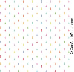seamless rain drops pattern