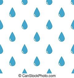 Seamless rain drops pattern on white