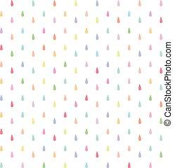 seamless rain drops pattern
