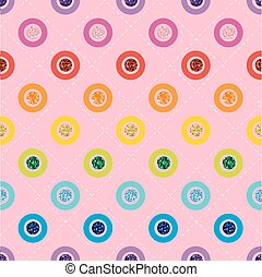 SEAMLESS RAINBOW COLORFUL DOT GLITTER ON PINK BACKGROUND