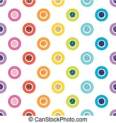 SEAMLESS RAINBOW COLORFUL DOT GLITTER ON WHITE BACKGROUND
