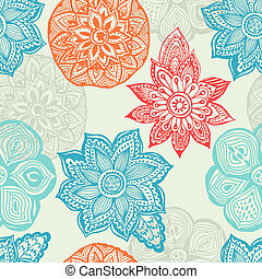 Seamless rainbow floral background. Copy that square to the side and you'll get seamlessly tiling pattern which gives the resulting image the ability to be repeated or tiled without visible seams