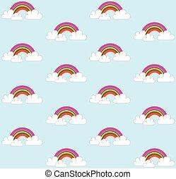 seamless rainbow print