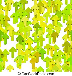 Seamless random arrow pattern background - vector graphic design from rounded forward arrows with shadow effect