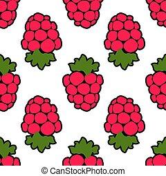 Seamless raspberry background white pink pattern