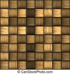Seamless rattan weave background macro image