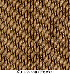 Seamless rattan weave background macro image
