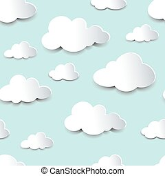 seamless, recorte, nubes