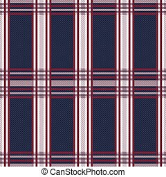 Seamless rectangular pattern in blue, grey and red