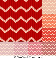seamless red chevron pattern