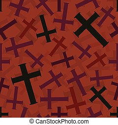 seamless red cross pattern background