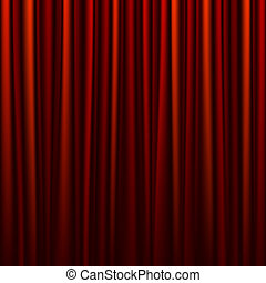 Seamless red curtain - Horizontally seamless vector...