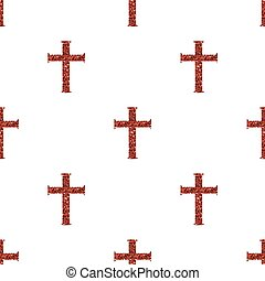 seamless red glitter cross pattern background