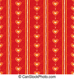 Seamless Red Heart Background