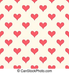 seamless red heart pattern