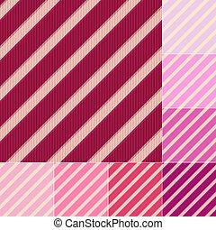 seamless red pink diagonal stripes pattern