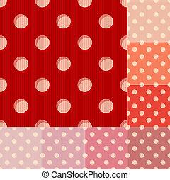 seamless red polka dots pattern