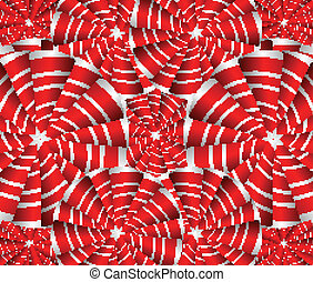 Seamless red striped circle background illustration
