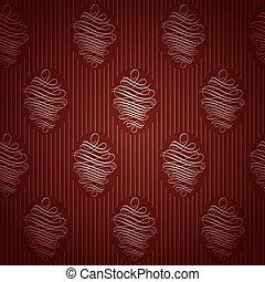 Seamless Red Wallpaper Pattern