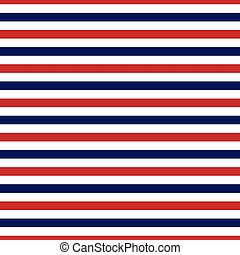 Seamless Red, White and Blue stripe pattern in vector format