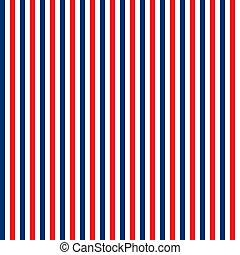Seamless Red, White & Blue Stripes - Seamless red, white, ...