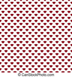 Seamless Red & White Heart Pattern