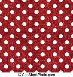 Seamless Red & White Polka Dot