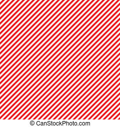 Seamless diagonal red and white stripes