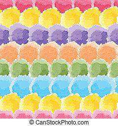 seamless, regnbåge, vattenfärg, bakgrund