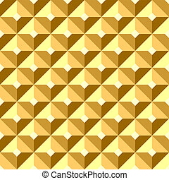 Seamless relief golden pattern.