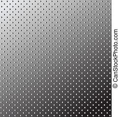 Seamless relief metal texture