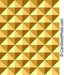 Seamless relief pyramid pattern. Vector art.