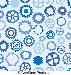 Blue Cog Background - Seamless, Repeating Blue Cog...