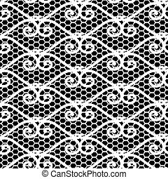 Seamless repeating lace pattern
