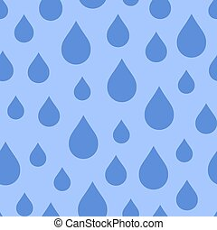 Seamless repeating pattern of water drops