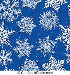 seamless, repetir, copo de nieve, plano de fondo