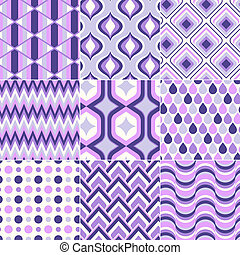 seamless, retro, 패턴, 인쇄
