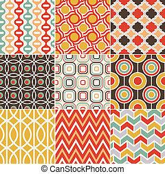 seamless, retro, 포도 수확, 패턴