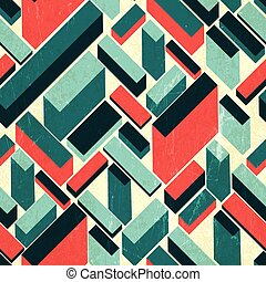 Seamless retro background, vector