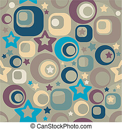 seamless retro background vector illustration