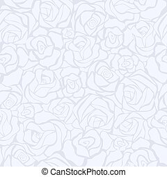 Seamless retro background with white roses