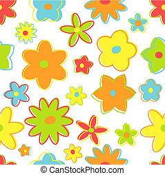 seamless, retro bloemen