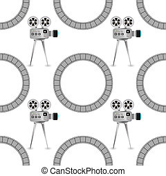 Seamless Retro Cinema Pattern