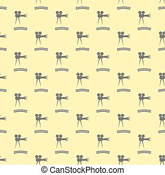Seamless Retro Cinema Pattern.