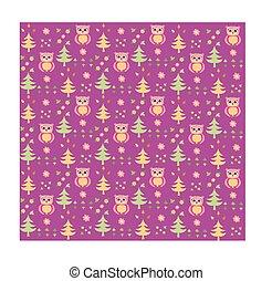 Seamless retro colourful owl bird pattern for kids