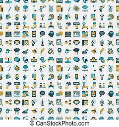 seamless retro flat communication pattern